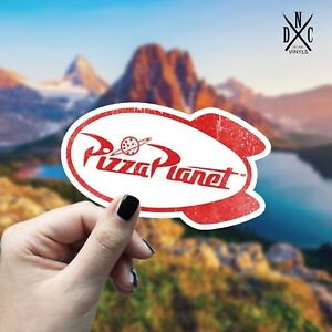 Pizza Planet Sticker Vinyl Decal Car Laptop Wall Window Toy Story Stickers