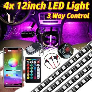 Led Interior Car Kit Under Dash Footwell Seats Inside Rgb Lighting Set Remote