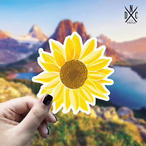 Golden Mandala Sunflower Sticker Vinyl Decal Car Truck Wall Laptop Stickers