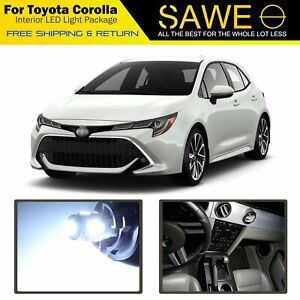 10 X White Led Interior Lights Package For 2001 2019 Toyota Cor