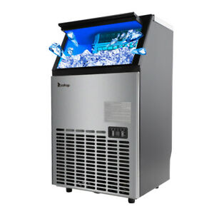 Stainless Steel Commercial 100lbs Undercounter Ice Maker Machine Air Cooled Cube