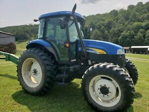 2012 New Holland Ts 6030 Farm Tractor Full Cab 4x4 118 Hp Cold A c Nice Tractor