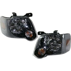 Headlight Set For 2007 2010 Ford Explorer Left And Right With Bulb 2pc