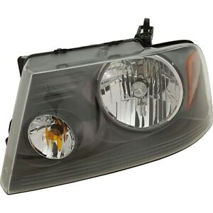 Headlight For 2007 2008 Ford F 150 Left Gray Housing With Bulb Capa