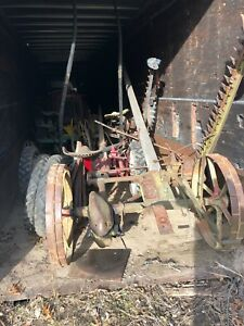 Antique Horse Drawn Equipment 2qty Jd One Bottom Sulky Plow 2qty