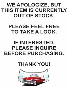 1954 1955 1956 Ford Black Aluminum Radiator Full Size With Fan And Shroud