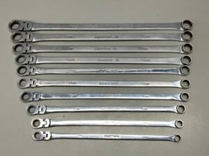Matco 10 Piece 0 Flex Ratcheting Extra Long Wrench Set 10 19mm gce035297