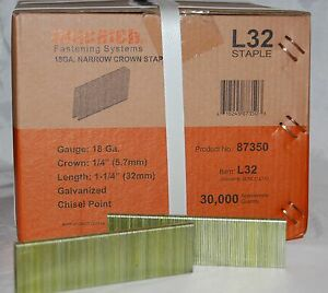 1 Case L 15 1 1 4 Galv Staples For Senco portercabe Dewlat 8 Boxes 40k