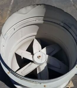 Binks 36in Tube Axial Exhaust Fan Motor Kit For Paint Spray Booth Painting