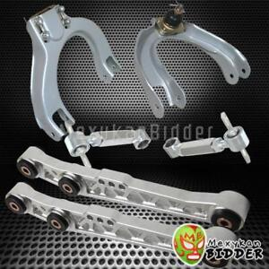 Front Rear Camber Kit Rear Lower Control Arm Civic 88 91 Integra 90 93 Chrome