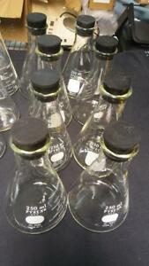 8 Count Pyrex 250ml Erlenmeyer Flask Glass With Stoppers
