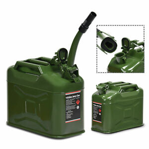 2 5 Gallon 10l Jerry Fuel Can Steel Gas Container Emergency Backup W Spout Epa