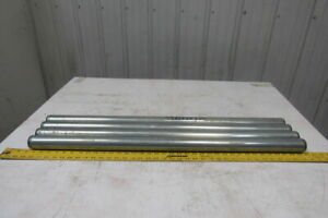 Dematic 1 9 Od X 36 5 8 Bf Gravity Conveyor Roller 7 16 Hex Bore Lot Of 4