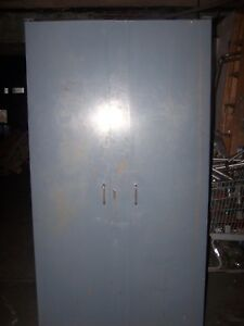 Gray High Capacity Small Parts Cabinet 37 1 2 Wide X 24 Deep X 72 High