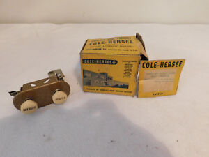 Vintage Interior Switch Heater Defrost Cole hersee Dual Panal Rat Rod 8293 Nos