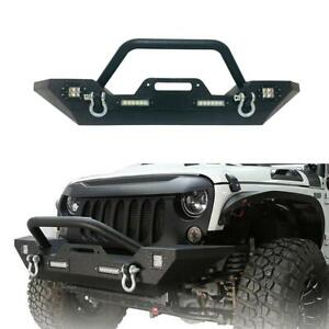 Front Bumper For 07 19 Jeep Wrangler Unlimited Jk With Led Lights