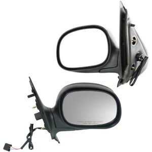 Folding Power Gloss Black Mirrors Pair Set For Ford Expedition Pickup Truck F150