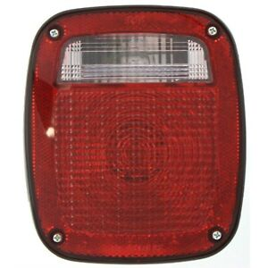 Halogen Tail Light For 1991 1995 Jeep Wrangler yj Right Clear red Lens W bulbs
