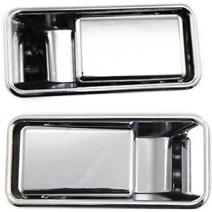Exterior Door Handle For 99 2006 Jeep Wrangler tj Set Of 2 Front Chrome