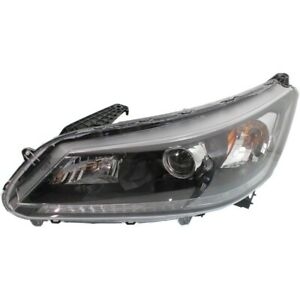 Headlight For 2013 2014 2015 Honda Accord Ex Ex L Lx Sport 4cyl Sedan Left Capa