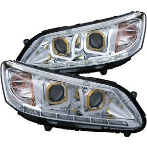 Anzo 121493 Headlight For 2013 2015 Honda Accord Sedan Left And Right With Bulb