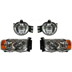 Headlight Kit For 2002 2004 Dodge Ram 1500 Left And Right 4pc