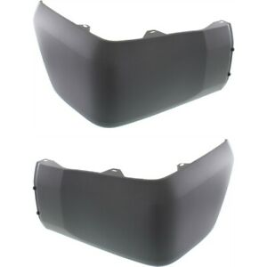 Bumper End Caps Set For 2014 2018 Toyota Tundra Rear With Plastic Bumper