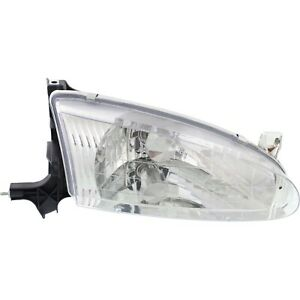 Headlight For 98 99 2000 2001 2002 Chevrolet Prizm Right With Bulb