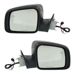 New Set Of 2 Mirrors Driver Passenger Side Heated Ch1320361 Ch1321361 Pair