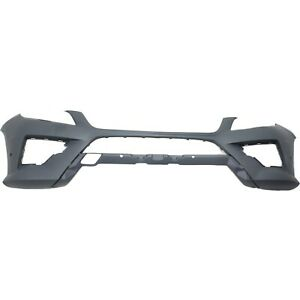 Front Bumper Cover For 2012 2014 Mercedes Benz Ml350 W Amg Hlw Parktronic Hole