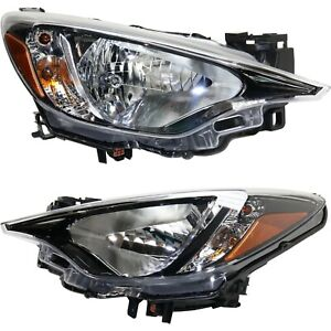 Headlight For 2017 2018 Toyota Yaris Ia Pair Driver And Passenger Side