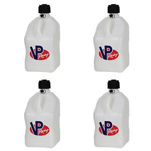 Vp Racing 5 Gallon Motorsport Racing Fuel Utility Jug Gas Can White 4 Pack