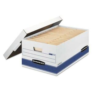 6 Pack Bankers Box 702 00702 Stor file Storage Boxes