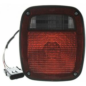 Halogen Tail Light For 1991 1995 Jeep Wrangler yj Left Clear red Lens W Bulbs