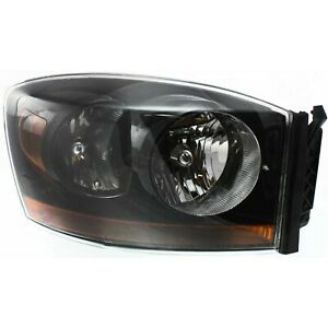 Headlight For 2006 Dodge Ram 1500 2500 3500 Right Black Housing With Bulb