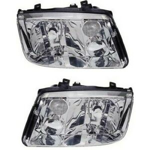 Headlight Set For 99 2000 2001 2002 Volkswagen Jetta Left And Right 2pc