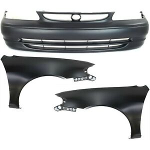 New Auto Body Repairs Set Of 3 Front For Toyota Corolla 1998 2000