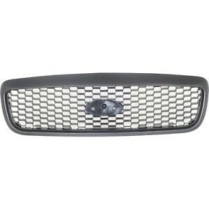 Grille For 2001 2011 Ford Crown Victoria Textured Gray Plastic Capa