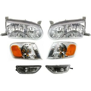 Headlight Kit For 2001 2002 Toyota Corolla Left And Right 6pc