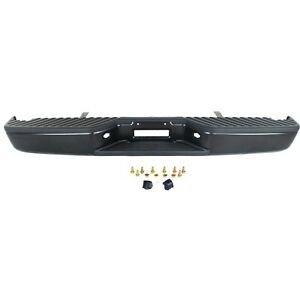 Step Bumper For 2004 2015 Nissan Titan All Cab Types Assembly Steel Black Rear