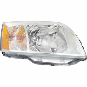 Headlight For 2004 2008 Mitsubishi Endeavor Right Clear Lens Halogen Capa