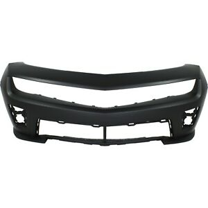 Front Bumper Cover For 2012 2015 Chevy Camaro W Fog Lamp Holes Primed