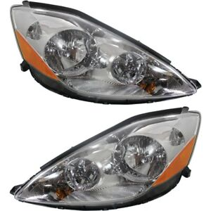 Headlight Set For 2006 2010 Toyota Sienna Left And Right Hid With Bulb 2pc