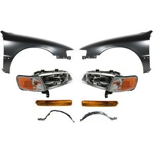 Headlight Kit For 1996 1997 Honda Accord Front Left And Right 8pc