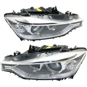 Hid Headlight Set For 2012 2015 Bmw 328i Left Right Pair