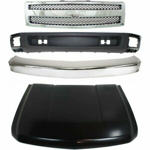 Bumper Kit For 2007 2008 Chevrolet Silverado 1500 Front For All Cab Types 4pc