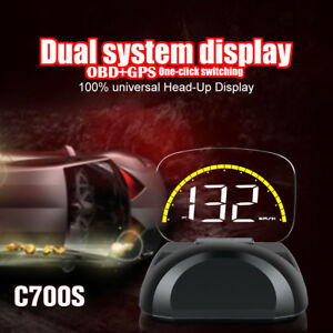Obdii Auto Hud Head Up Display Obd2 With Switch Car Overspeed Warning