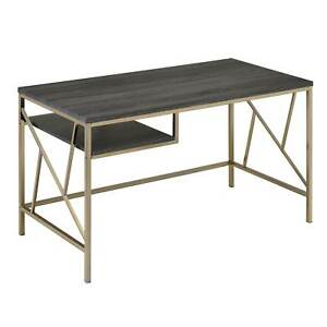 Furniture Of America Nara Contemporary Two tone Metal Desk