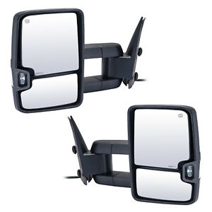 Vluxparts Towing Mirrors For 2003 2006 Chevy Silverado Gmc Sierra Power Light