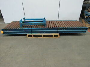 Hytrol 120 lx33 bf Steel Gravity Roller Conveyor 2 1 2 Rollers W legs Lot Of 2